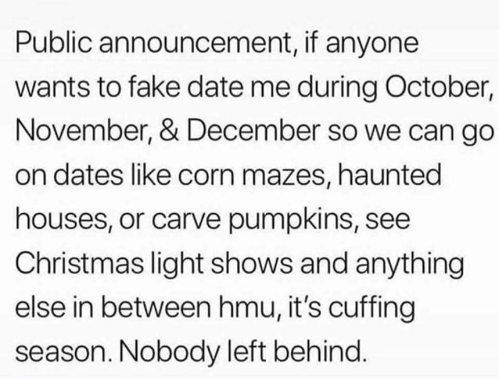 Cuffing Season?